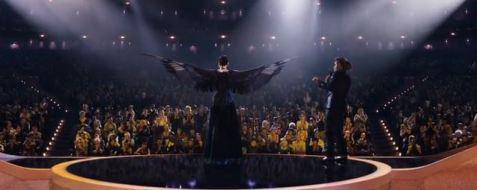 Katniss as the mockingjay