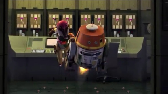 Sabine Wren and Chopper