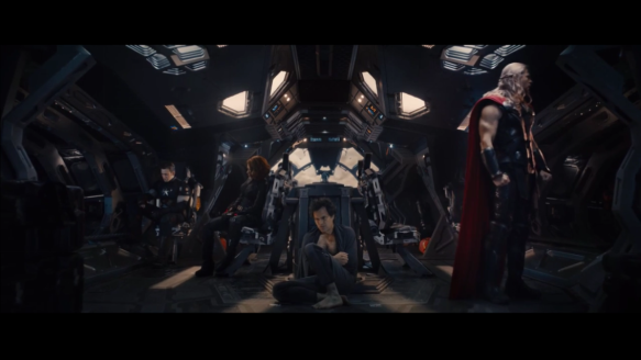 Age of Ultron Romanoff Rogers Thor and Banner