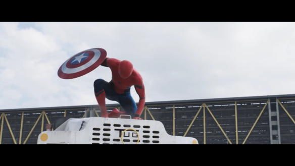 Tom Holland as Spider-Man in Captain America: Civil War
