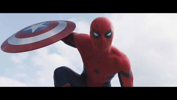 Tom Holland as Spider-Man in Captain America: Civil War