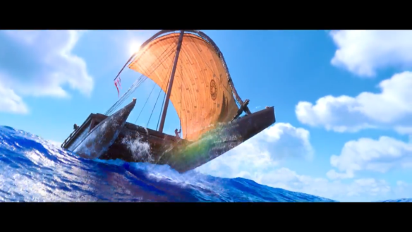 Moana's family's catamaran
